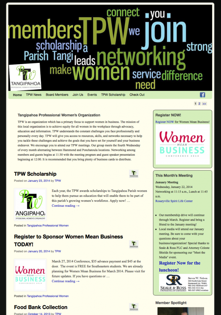 Tangipahoa Parish Professional Women